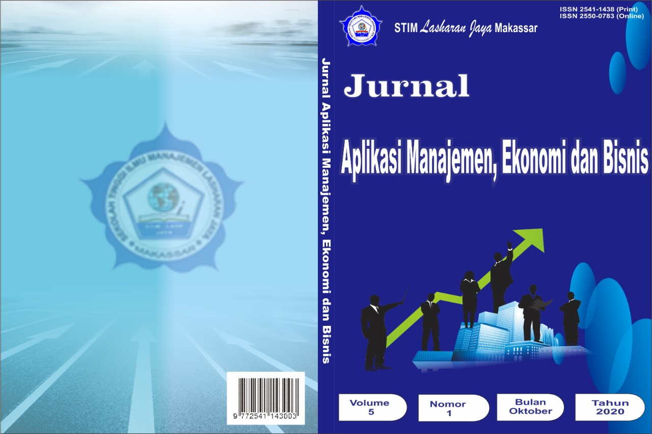 Jurnal Aplikasi Manajemen Ekonomi Dan Bisnis